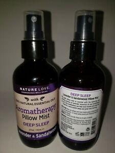 "2 Nature Love  pillow mist, Lavender & Sandalwood ""Deep sleep"" 4oz bottles"