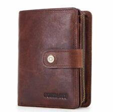 Men's Genuine Leather Wallet Long RFID Card Travel Money Card Wallet Holder
