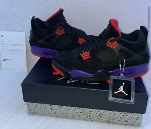 """Jordan 4 """"Raptors"""" Drake OVO Pre-Owned Size 10 Ships Next Day! 100% Authentic🔥"""