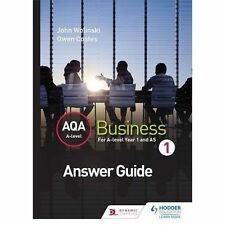 NEW AQA A Level Business 1 Third Edition (Wolinski & Coates) Answers