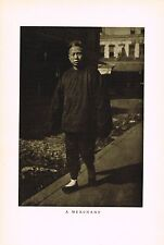 1910's Old Vintage Asian Chinese Store Merchant Genthe Photo Gravure Print