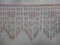 """5 TO 5.5 """"LONG- BEADED- FRINGE- TRIM- EXCELLENT-QUALITY-11"""