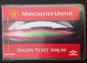 Original Treble 1999 Manchester United FC Season Ticket Football Match Book