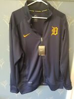 Nike Men's MLB Dri-Fit Pullover Detroit Tigers Sweatshirt Top Extra Large XL NWT
