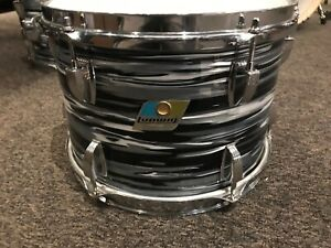 Ludwig vintage 8x12 Black Oyster tom modded and rewrapped 3 ply B/O badge