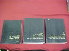 1985 OLDSMOBILE NINETY EIGHT 98 CALAIS CIERA SERVICE SHOP MANUAL 85 + WIRING OEM