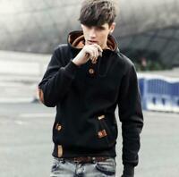 Men Winter Slim Hoodie Warm Hooded Sweatshirt Coat Jacket Outwear Sweater Ske15