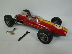 Schuco #1071 Lotus Formel 1 Key Scale 1:16 Wind Up w/ Key & Wrench Toy Car Works