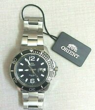 ORIENT (SUBMARINER) Men's Diver's Watch Round Black Date Dial New in Box