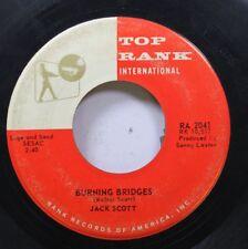 50'S & 60'S 45 Jack Scott - Burning Bridges / Ok, Little One On Top Rank Interna