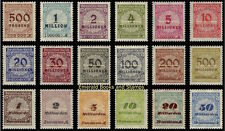 EBS Germany 1923 Inflation Numeral in Rosette (I) Michel No. 318A-330A MNH**