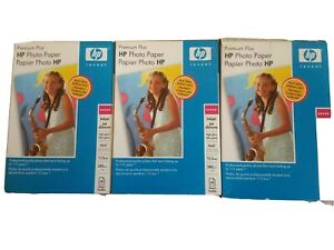 New Lot Of 3 Genuine HP Q5519A Premium Plus Photo Paper Glossy 4x6 45 Sheets/box
