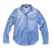BDG Urban Outfitters Spikes Denim Long Sleeve Shirt - Size S