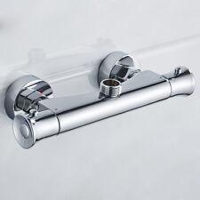 "Chrome wels Thermostatic Shower Mixer Valve Bar Shower Hose Rod Top 3/4"" Outlet"