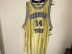 Georgia Tech Yellow Jackets Basketball Jersey by Russell Athletic - Size XXL