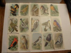"Full set of 15 ""Useful Birds Of America"" Church & Dwight 1935 Ninth Series"