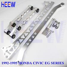 BILLET REAR CONTROL ARM SUBFRAME BRACE TIE LCA BAR FOR HONDA CIVIC 92-95 EG F7 8
