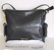Michael Kors Marly Large Leather Shoulder Bag Black NWT
