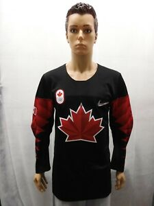 NWT Team Canada 2018 Olympic Hockey Jersey Black Nike S