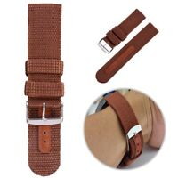 Fabric Stainless Steel Pin Buckle Military Wrist Watch Band Strap Watchbands