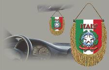 ITALY REAR VIEW MIRROR WORLD FLAG CAR BANNER PENNANT