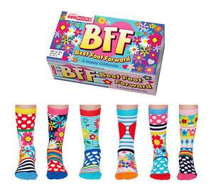 United Oddsocks Bff Beste Fuß Vorwärts Unregelmäßige Socken für Mädchen UK Eu 12