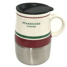 Starbucks Coffee Travel Mug Ceramic Stainless with Lid 14 oz 2006