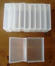 10 x Clear Plastic Storage Box Case Cigarette Cards Tea Cards Jewellry Craft