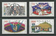 WEST GERMANY MNH STAMP DEUTSCHE BUNDESPOST 1989 Youth Circus SG 2267-2270