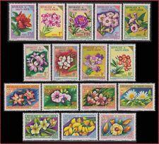 1963 HAUTE VOLTA N°113/128** Fleurs, Upper Volta Flowers Complete Set MNH