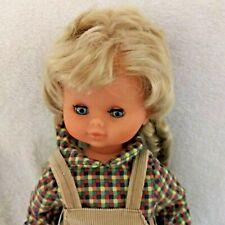 Vintage Brevetti Ceccon Italy Doll 18� Tall Talking Record Player Hard Plastic