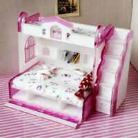1/12 Dolls House Miniature Furniture Double Bunk Bed Children Bedroom Decor