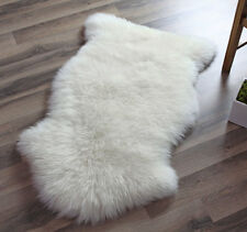 Genuine Real Australian Single One Pelt Sheepskin IVORY 2x3 Rug
