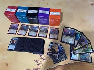 2020 Magic The Gathering MTG 5 Commander Decks Set, Custom Deck Boxes, Sleeves
