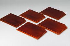 Japanese HIDA SHUNKEI-NURI URUSHI Lacquered Wood Plate Set 5pc 572k15