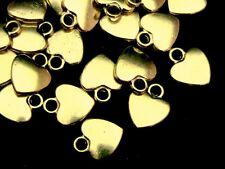 20 Pcs Golden Tibetan Heart Pendants 12mm Charms Jewellery Beading Craft P103