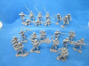Marx/CTS  Confederate infantry, 22 in all 10 poses, gray, 1/32