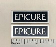 Epicure Speaker Badge Logo Custom Made Aluminum PAIR Free Shipping