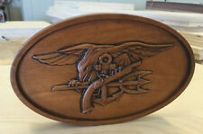 US Navy SEALs solid wood wall or desk plaque, gift
