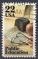 USA Briefmarke gestempelt 22c Public Education / 470