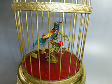 VINTAGE GERMAN KARL GRIESBAUM SINGING BIRD CAGE MUSIC BOX AUTOMATON (SEE VIDEO)