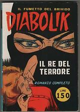 DIABOLIK  N.1 IL RE DEL TERRORE semi anastatica 1999 collana SPIN OFF 1/99  MBP