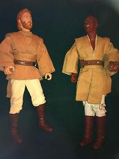 "vintage Star Wars Episode 2 13"" action figures Obi Wan Kinobi & Mace Windu 33 cm"