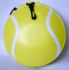 CD or DVD CARRY CASE FOR 24 DISCS. YELLOW & WHITE TENNIS STYLE
