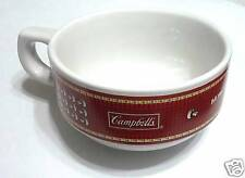 """CAMPBELL'S Soup MUG BOWL red THAILAND RARE New !! Ceramic 2.5"""" x 5"""" Dia"""