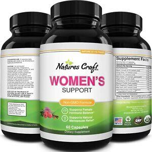 Womens Balance Support Supplement for Hormone PCOS Estrogen Adrenal Support 60ct