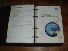 2000 Volkswagen Passat Owners Manual Set