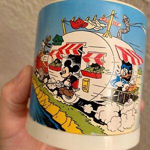 ✅ Vintage Disney Spardose Donald Duck Wohnwagen 8cm Micky Maus Chip 'n Dale ALT