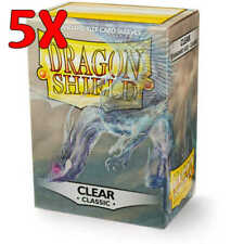 Dragon Shield Sleeves: Standard- Classic Clear - 5 pack (500 count)