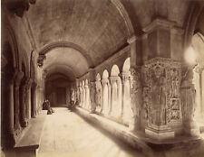 Photo Albuminé Arles Cloître de Saint Trophime Provence Vers 1880